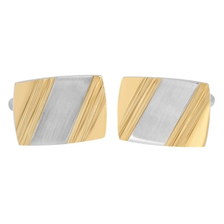 Two-tone Stainless Steel Cufflinks