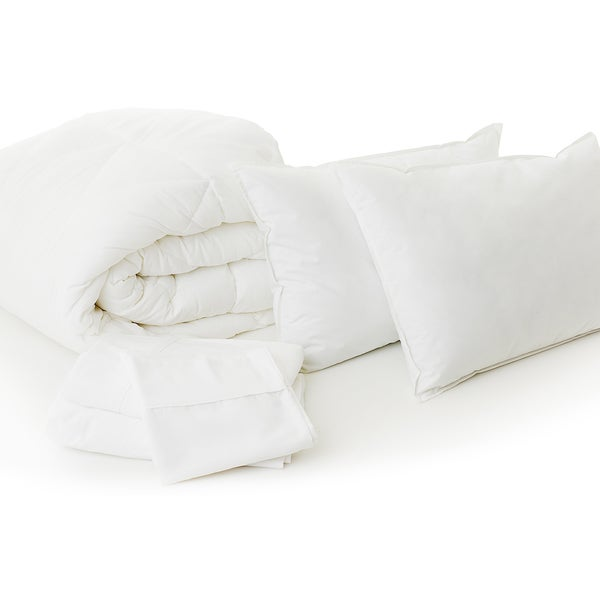 Woven Bed In A Bag Complete Bedding Set - White