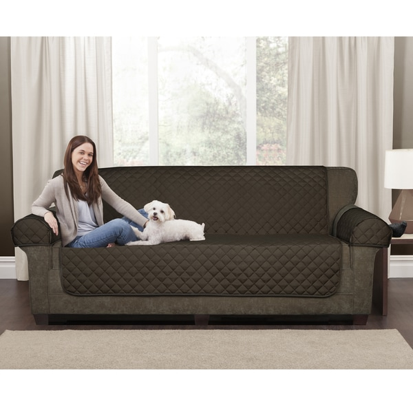 Maytex 3 Piece Waterproof Quilted Suede Sofa Pet Cover