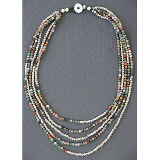 Mint Jules Multi-strand Multi-stone Necklace