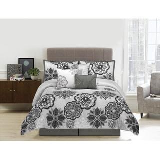 Willow Microfiber Floral 7-piece Comforter Set