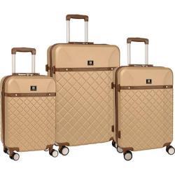 Anne Klein Greenwich Semolina 3-piece Hardside Spinner Luggage Set