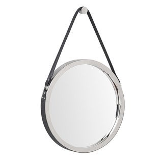 Wellington Leather Frame Mirror- Black