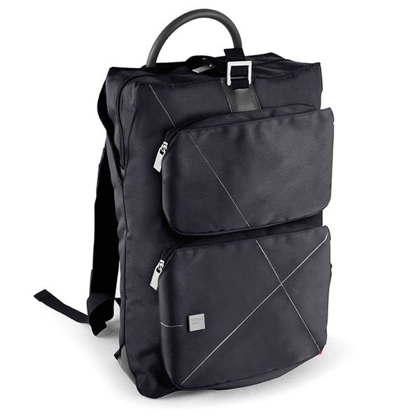 Lexon Urban Black Backpack With Laptop and Tablet Padded Compartments