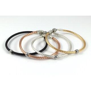 La Dolce Vita Silver Bead Bracelets
