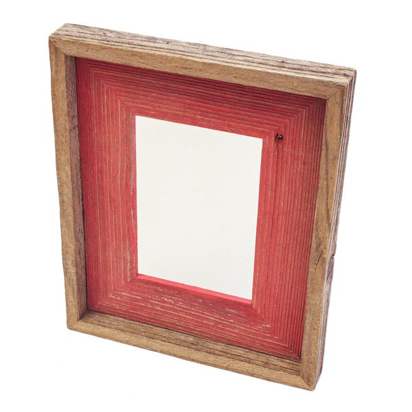 The Natural Shabby Chic Red Reclaimed 5x7 Frame