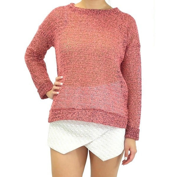 Women's Coral Crush Long Sleeve Knit