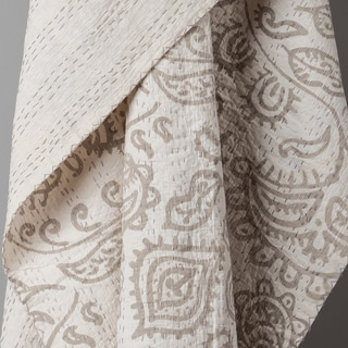 Dashiell Luxury Off-white Throw Blanket by Arden Loft