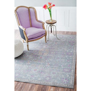 nuLOOM Traditional Vintage Persian Grey Rug (9' x 12')