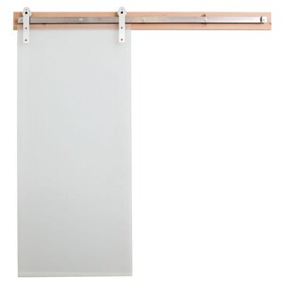 Rustica Hardware Frosted Glass Barn Door and Hardware