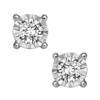 10K White Gold 1/2ct TDW Diamond Earrings (H-I, I2-I3)