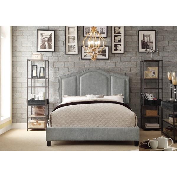 Moser Bay Furniture Belita Linen Arched Bridge Upholstered