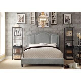 Moser Bay Furniture Belita Linen Arched Bridge Upholstered Bed