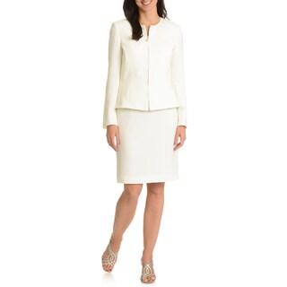 Tahari Arthur S. Levine Women's Peplum Jacket 2-piece Skirt Suit