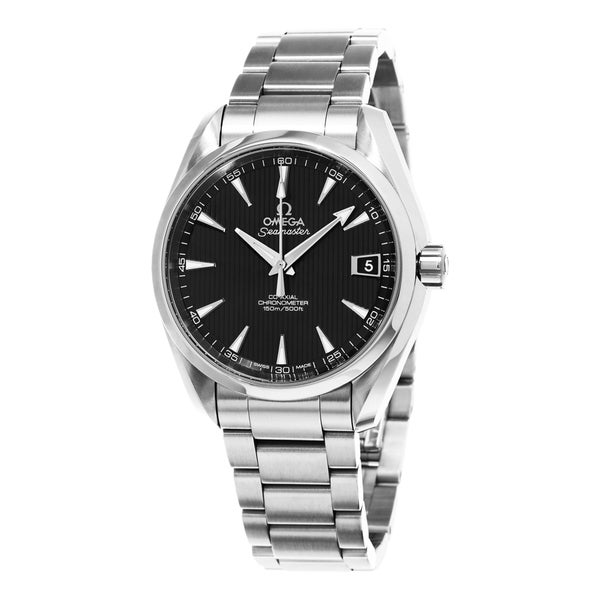 Omega Men's 231.10.39.21.01.001 'AquaTerra' Black Dial Stainless Steel Co-Axial Swiss Automatic Watch