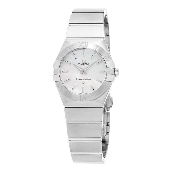 Omega Women's 123.10.27.60.05.001 'Constellation CC' Mother of Pearl Dial Stainless Steel Swiss Quartz Watch