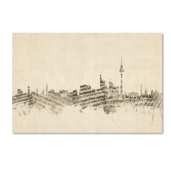 Michael Tompsett 'Berlin Germany Skyline Sheet Music' Canvas Wall Art