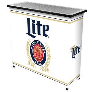 Miller Lite Portable Bar with Case - Retro Design