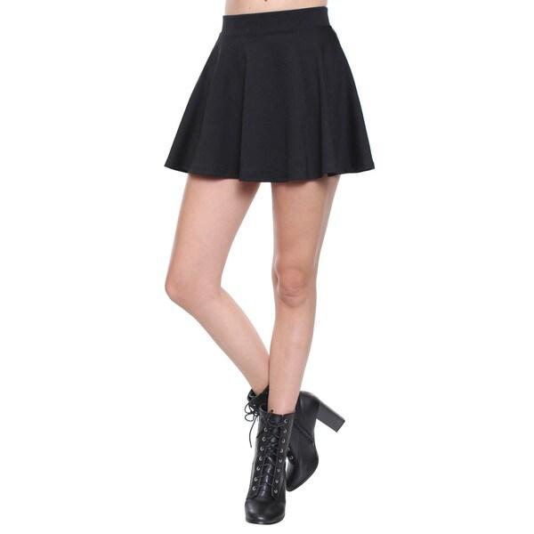 Beston Juniors' Contemporary Black Skater Skirt