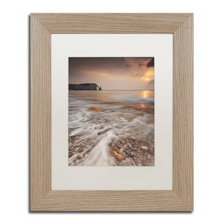 Mathieu Rivrin 'Etretat' White Matte, Birch Framed Wall Art