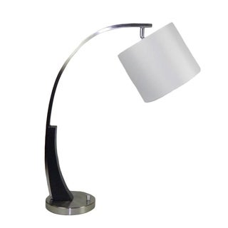 Brush Nickel Desk Lamp With Shade