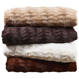 "Luxe Ultra Mink Faux-Fur Throw (50""x60"")"