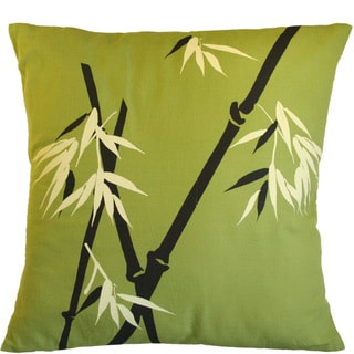Bamboo Wilderness on Moss Large Pillow