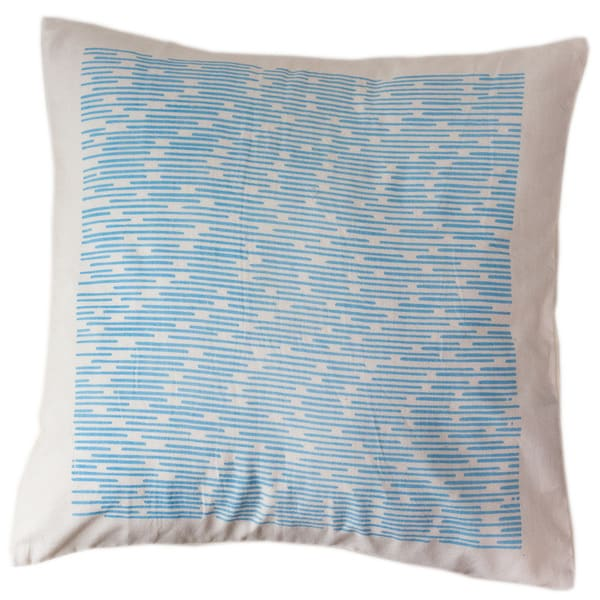 Cerulean Channels Small Pillow