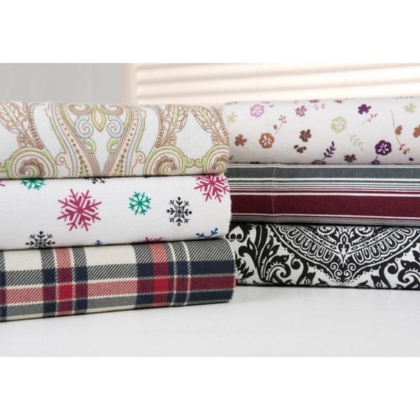 Bibb Home 100-percent Cotton Printed Flannel Sheet Sets