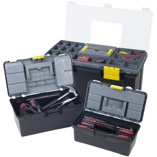 Stalwart Parts and Crafts 3-in-1 Tool Box Storage Set