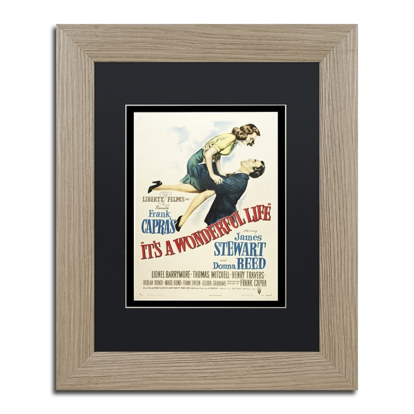 Vintage Apple Collection 'It's a Wonderful Life' Black Matte, Birch Framed Wall Art