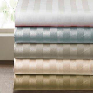 Supima Cotton 500 thread count Damask Stripe 4-piece Sheet Set