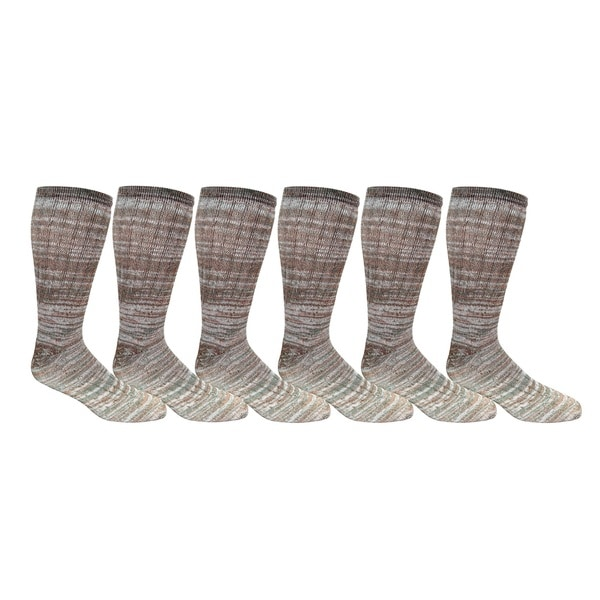 Excell Women's Merino Wool Camouflage Print Thermal Socks (Set of 6 Pairs)