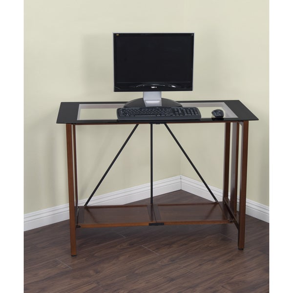 Calico Designs Madera Folding Desk Glass