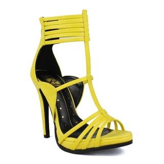 Fahrenheit Sabina-01 T-strap Women's Strappy High Heel Sandal
