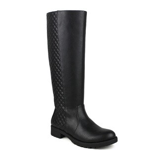 Mark and Maddux Travis-08 Quilted-Back Textures Women's Riding Boots