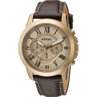 Fossil Men's FS5107 'Grant' Chronograph Brown Leather Watch