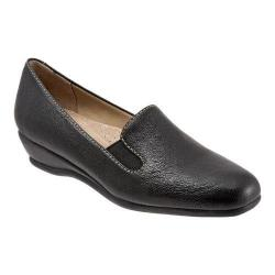 Women's Trotters Lamar Loafer Black Veg Tumbled Leather
