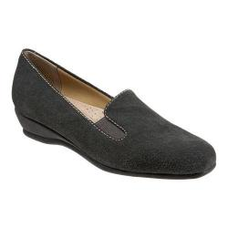 Women's Trotters Lamar Loafer Graphite Cow Suede