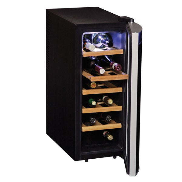 Koolatron Black 12-bottle Wine Cooler