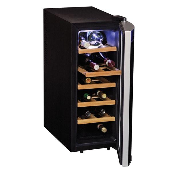 Koolatron Black 12-bottle Wine Cooler