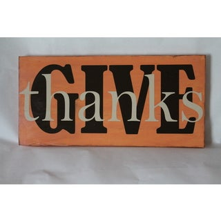 Give Thanks Board Wall Sign