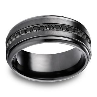 Black Titanium Black Cubic Zirconia Eternity Ring