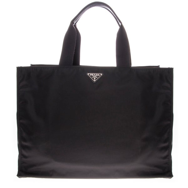 Prada Black Nylon Tote Handbag