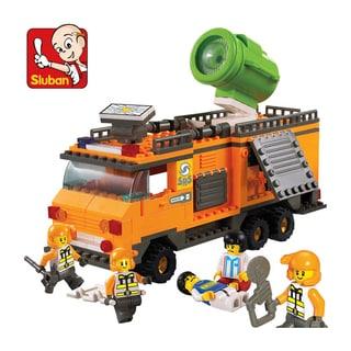 Sluban Interlocking Bricks Lighting Command Vehicle M38-B0105