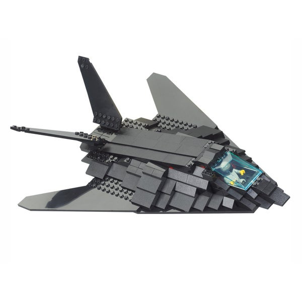 Interlocking Brick F-117 Stealth Bomber