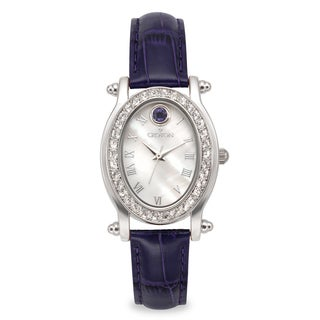 Croton Women's CN207537BLMP Stainless Steel September BirthstoneMother of Pearl Watch