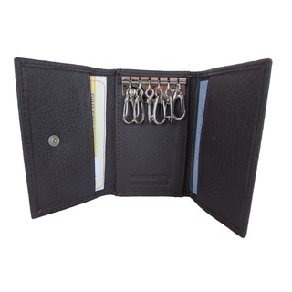 Continental Leather Key Case Trifold Wallet Holder