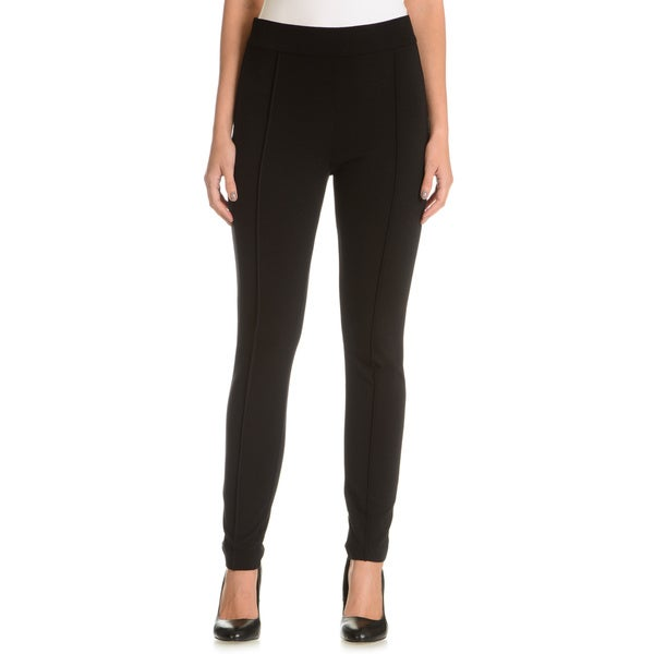 Joan Vass Women's Solid Spandex Ponte Pants