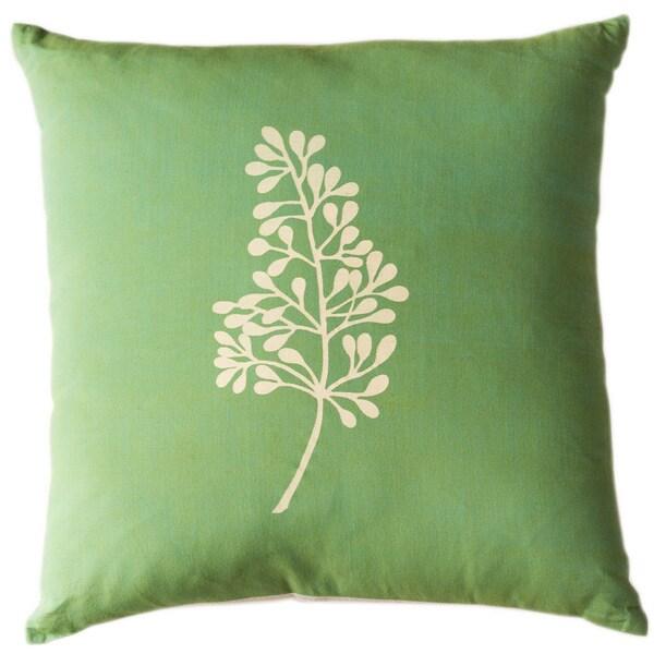 Botanical Kiwi Large Throw Pillow